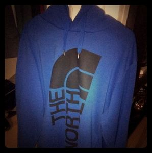 Blue north face hoodie only wore couple time very